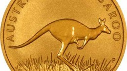 Moneda Kangaroo de oro australiano