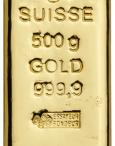 Lingote de oro 500g PAMP SUISSE