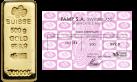 Lingote de oro Suiza