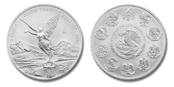 moneda plata libertad 1oz mexico silver