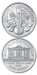 Moneda plata filarmonica de viena austria
