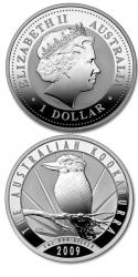 Moneda plata Kookaburra Australia 2009
