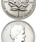 Moneda maple leaf plata canada
