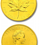 Moneda Maple Leaf oro Canada