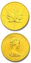 Moneda Maple Leaf oro Canada