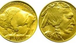 Moneda de oro buffalo eeuu americano