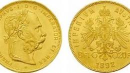 Moneda de oro gulden austria