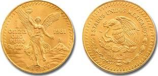 Moneda de oro libertad mexico 1981