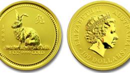 Moneda de oro lunar australia
