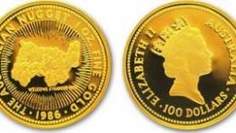 Moneda nugget de oro australia