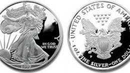 Moneda plata american eagle EEUU