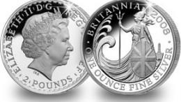 Moneda plata britannia