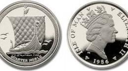 Moneda platino isle of man