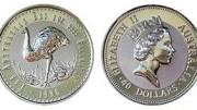 Moneda emu paladio australia