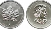 Moneda maple leaf paladio canada