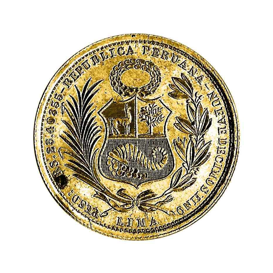 Moneda De Oro Sol De Perú