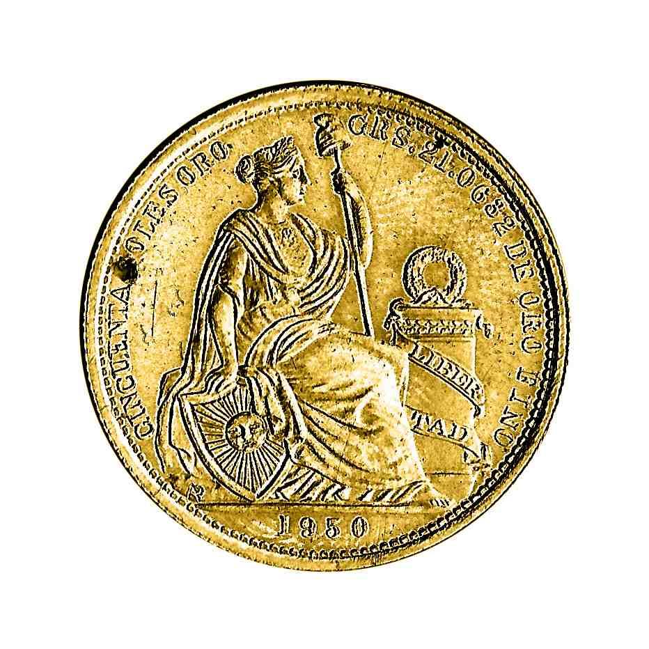 Moneda sol de_oro peru 2