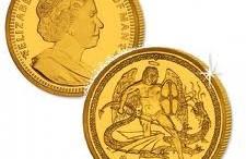 moneda oro angel isla de man