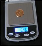 Bascula monedas de oro