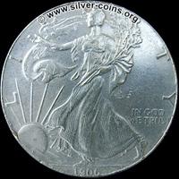 Moneda falsa American Silver Eagle Plata