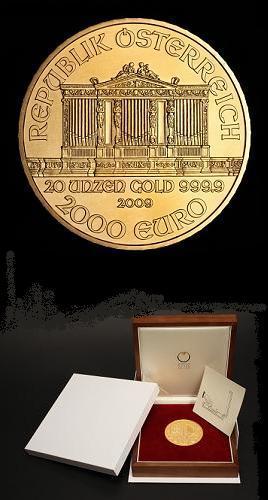 Oro edicion limitada filarmonica viena 2009 2000 euros