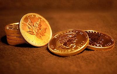 Moneda Maple Leaf de oro