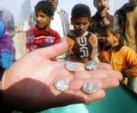 Monedas Palestinas de plata del 300 a.C.