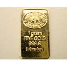 Lingote de oro Istanbul gold refinery