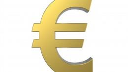 Símbolo de euro de oro