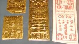 Lingote de oro chi vietnam