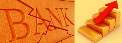 Quiebra bancos y lingote de oro