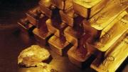 Lingotes de oro y pepitas de oro