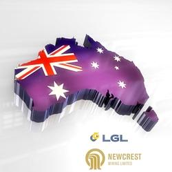 Mapa geográfico de Australia con bandera