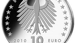Moneda alemana de 10 euros Silberzehner con aguila