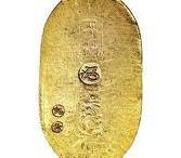 Lingote moneda de oro Koban de Japon