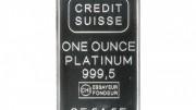 Lingote de platino Credit Suisse