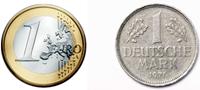 Euro y Marco aleman