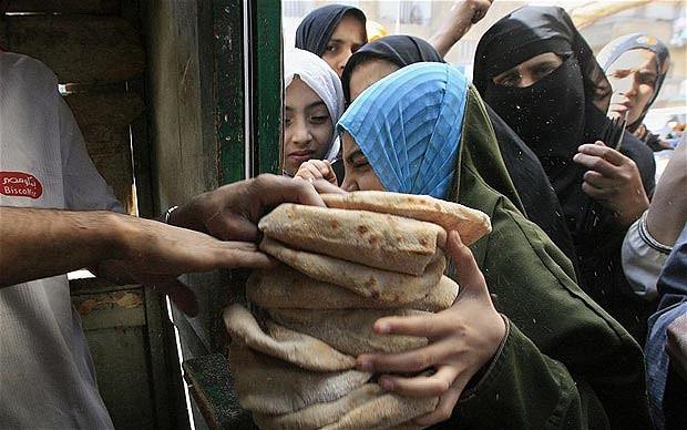 Venta de pan en oriente medio