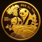 Panda de oro chino