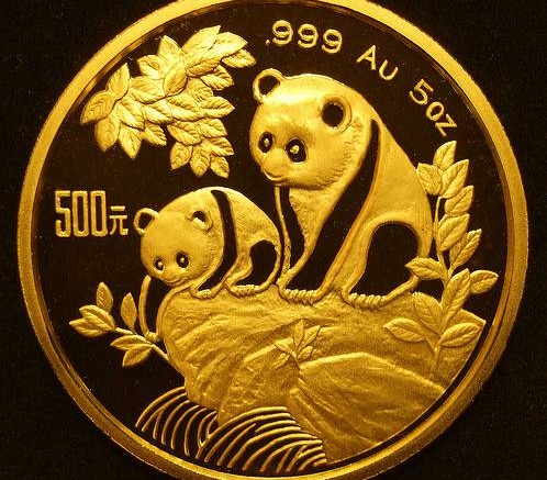 Moneda de oro Panda de oro chino