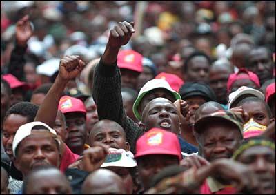 Huelga minería sudáfrica
