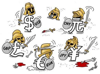 Guerra Divisas Dinero Monetaria
