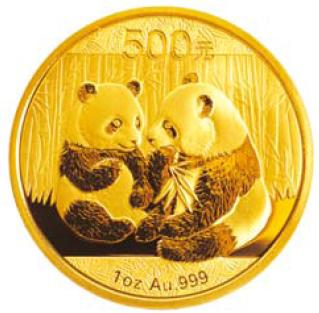 Moneda de oro Panda China