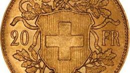 Franco suizo oro