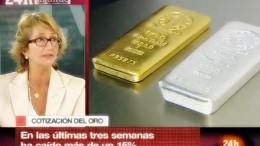Marion Mueller rtve con lingotes de oro y plata