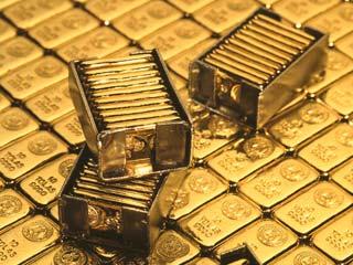Muchos lingotes de oro