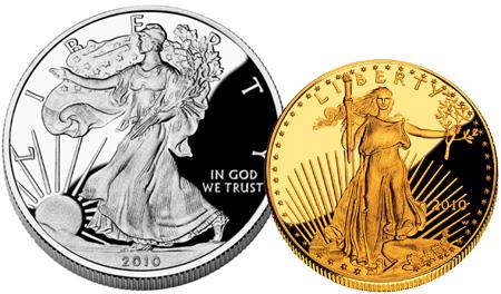 American Eagle EEUU Oro Plata