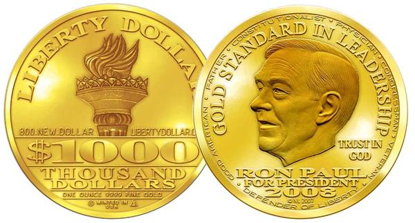 Ron Paul Dólar Oro