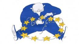 Estrellas bandera Europa con hombre
