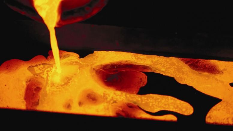Fundición lingotes oro